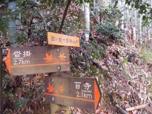 沓掛への山道
